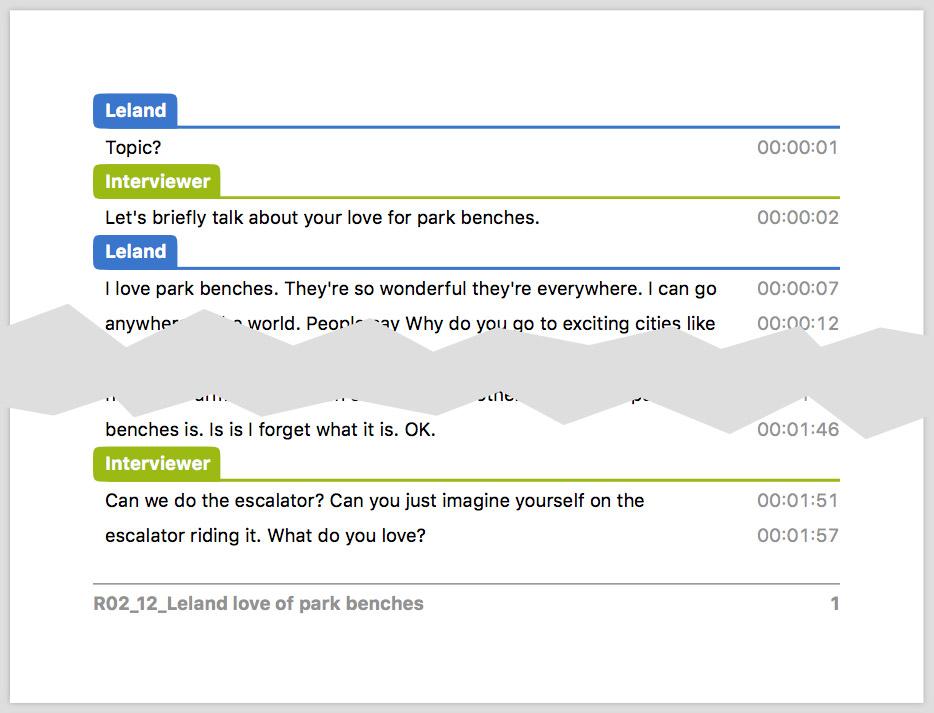 Printing and Exporting Transcripts